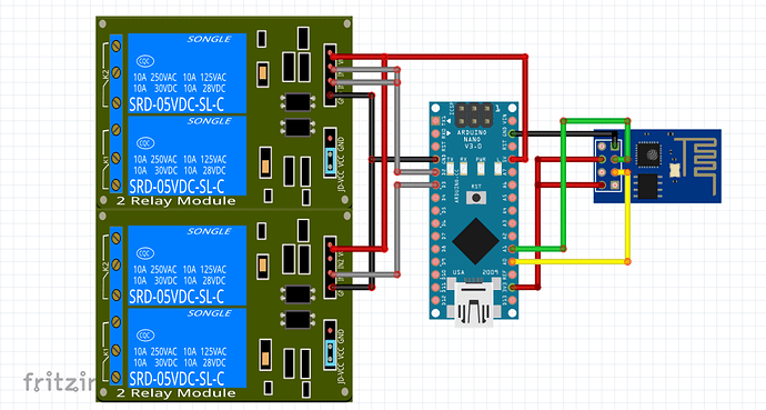IoT Project - Controlling an Electric door and a Water heater from